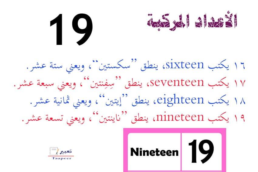 تعليم ارقام انجليزي 2